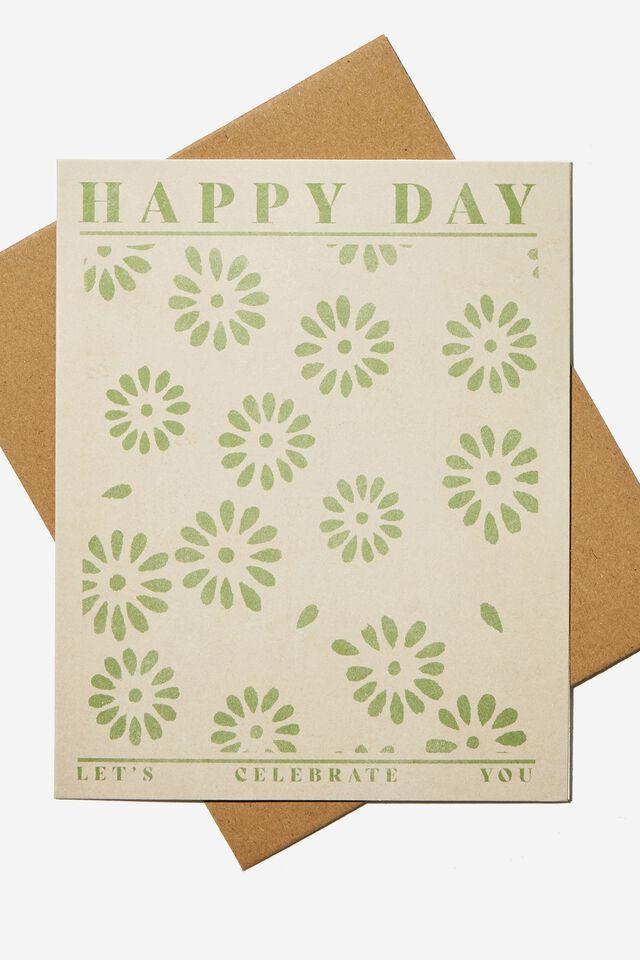 Nice Birthday Card, HAPPY DAY DAISIES