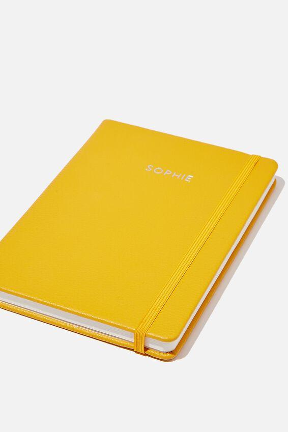 A5 Buffalo Journal Personalised, MUSTARD