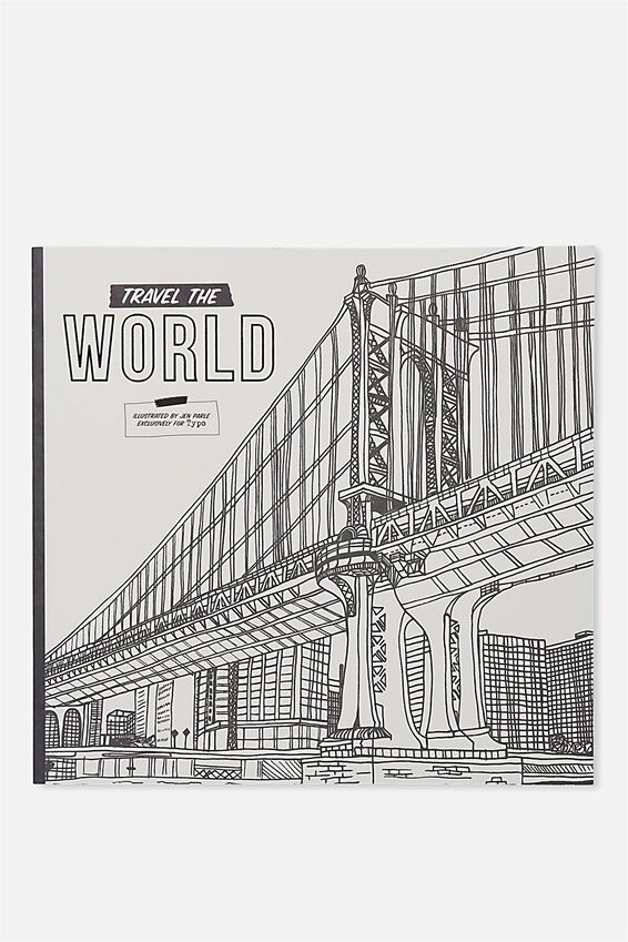 Between The Lines Colouring Book, TRAVEL THE WORLD