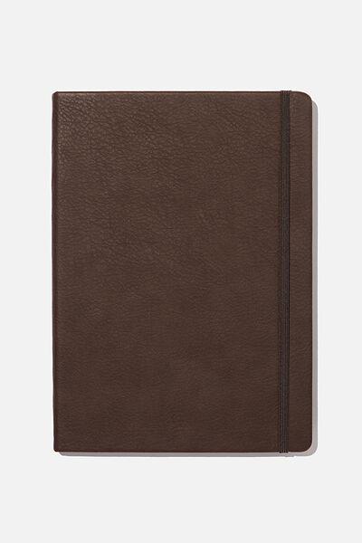 "A4 Blank Buffalo Journal (8.2"" x 11.6""), BITTER CHOC"