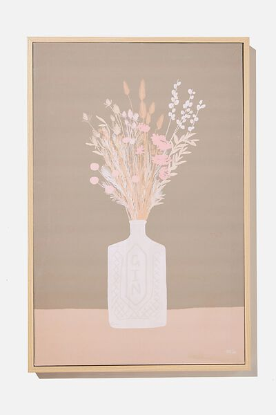 40 X 60 Canvas Art, GIN FLOWERS