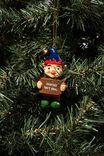 Resin Christmas Ornament, SANTA'S NOT REAL ELF