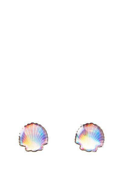 Novelty Earrings, IRIDESCENT SHELLS