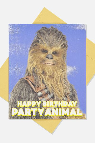 Funny Birthday Card, LCN LU PARTY ANIMAL