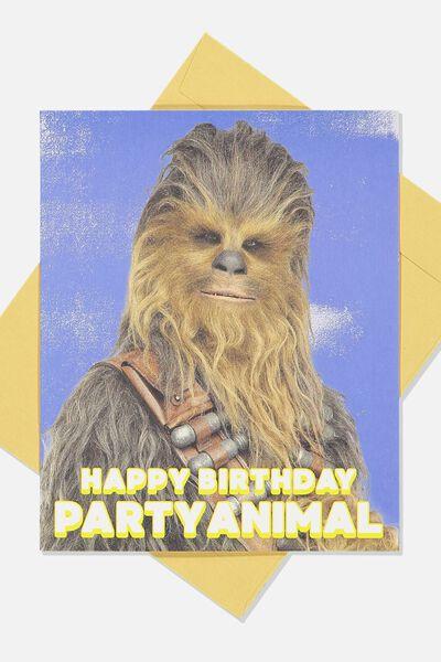 Funny Birthday Card LCN LU PARTY ANIMAL