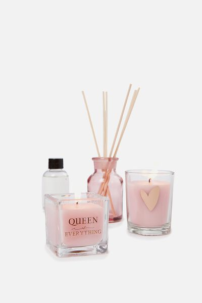Diffuser Candle Gift Set, PINK HEART