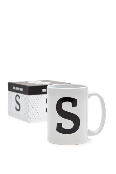 Big Alphabet Mug, BLACK S