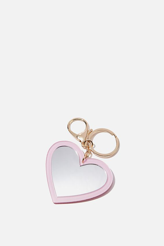 Bag Charm, ACRYLIC MIRROR GRL POWER HEART