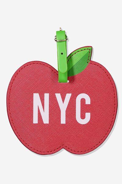 Shape Shifter Luggage Tag, NYC APPLE