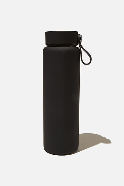 On The Move Metal Drink Bottle 500Ml, BLACK