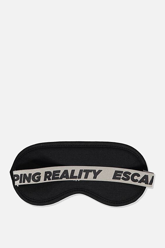Premium Sleep Eye Mask, BLACK ESCAPING REALITY