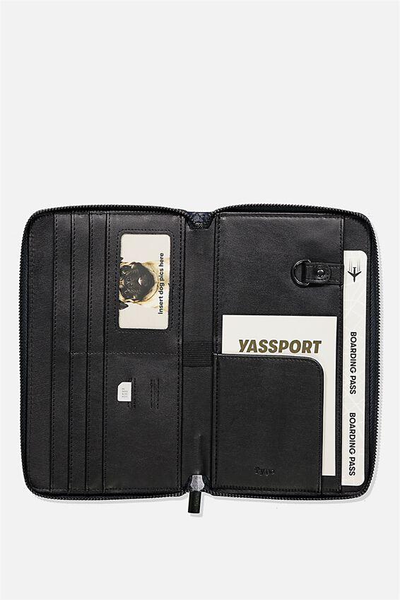 Rfid Odyssey Travel Compendium Wallet, NAVY WEAVE