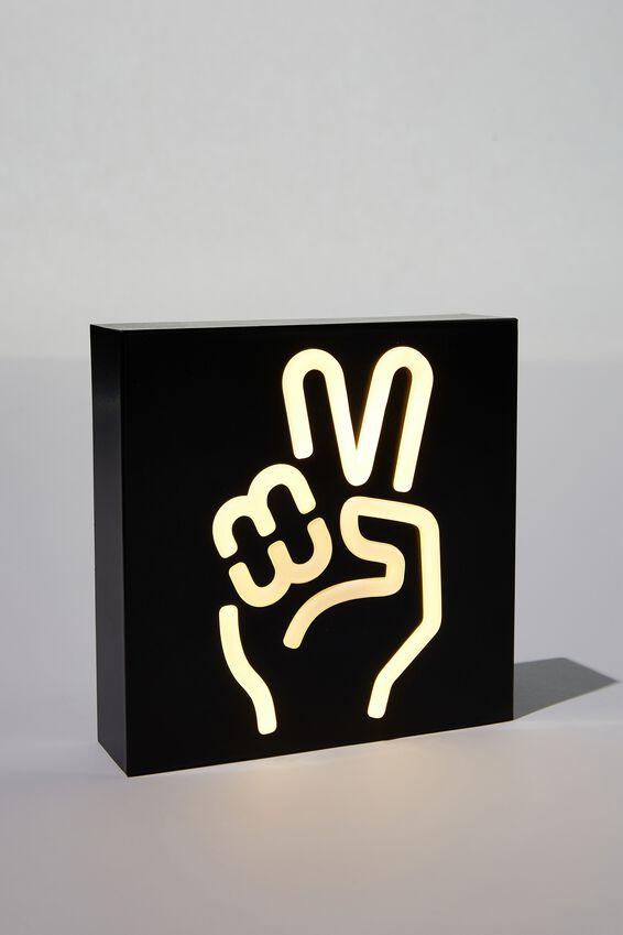 Metal Block Light, PEACE HAND