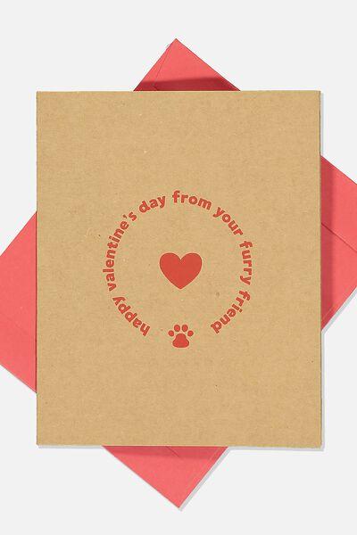Valentines Day Card 2020, FURRY FRIEND VALENTINES CRAFT