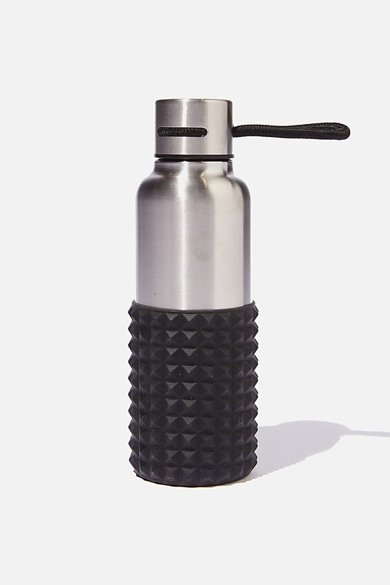 The Loop Metal Drink Bottle, SILVER SPIKEY