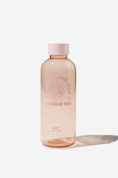 Recycled Daily Drink Bottle, RG I WISH THIS WAS BUBBLE TEA