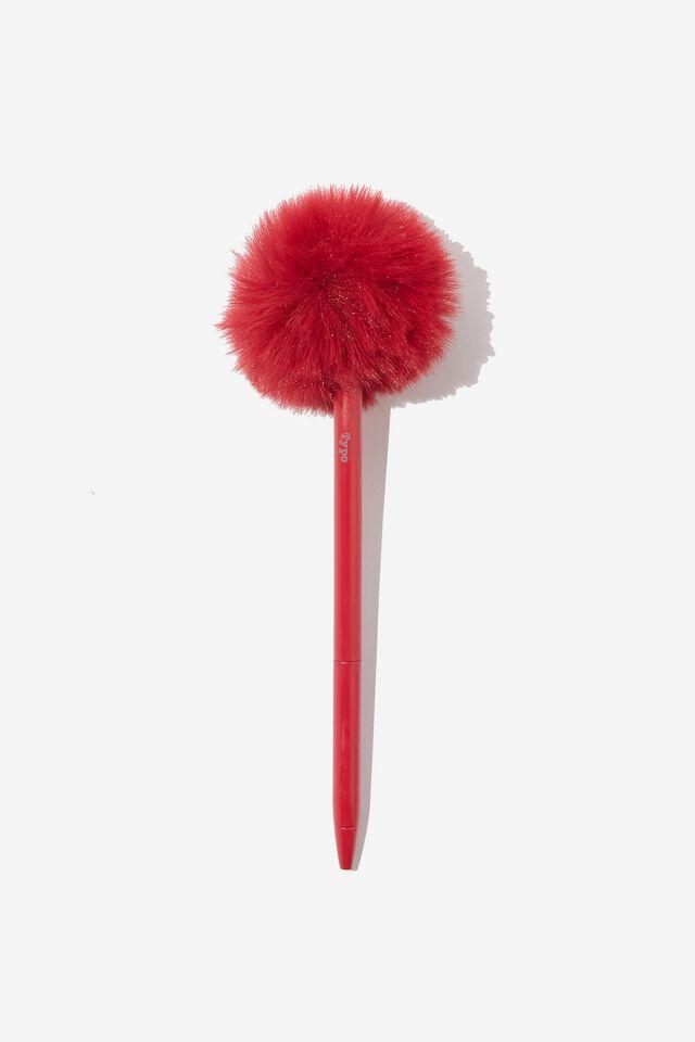 Fluffy Pen, DEEP RED