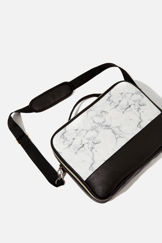 Mobile Laptop Folio 15 Inch, WHITE MARBLE