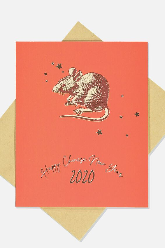 Chinese New Year Card 2020, YEAR OF THE RAT