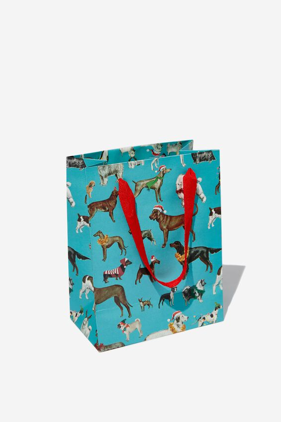 Small Stuff It Gift Bag, FESTIVE DOGS