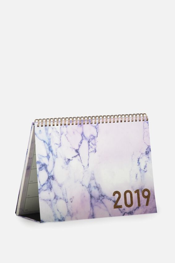 2019 Desk Calendar, LUSH MARBLE