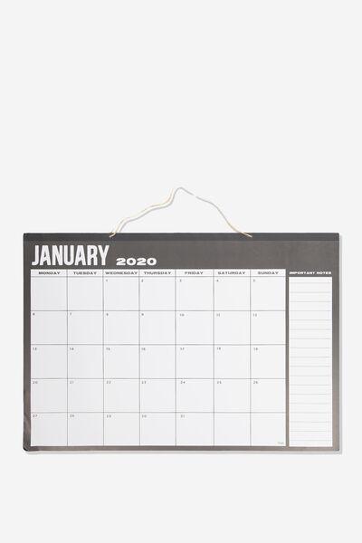 2020 A1 Hanging Calendar, BLACK