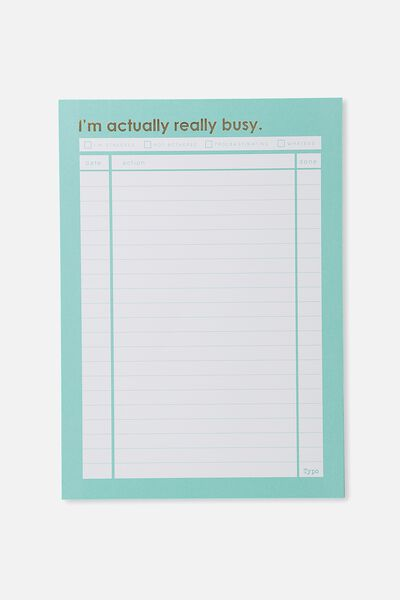 A4 Plan Ahead Planner, BLUE REALLY BUSY