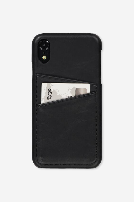 Cardholder Phone Cover Iphone Xr, BLACK