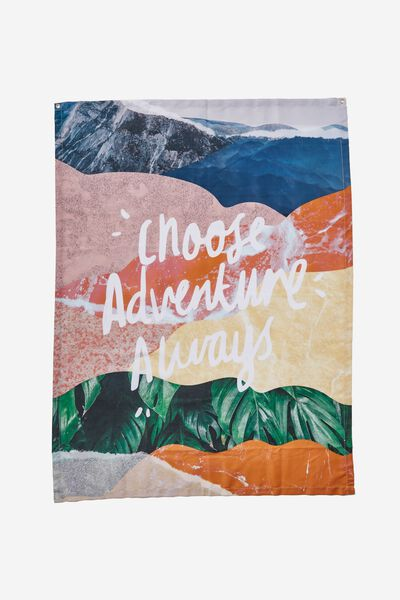 Fabric Wall Hanging, CHOOSE ADVENTURE