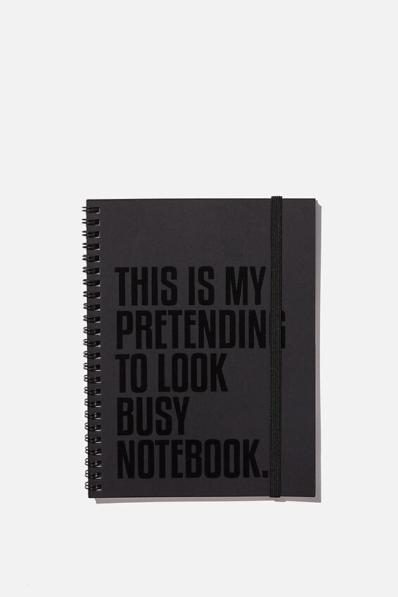 A5 Spinout Notebook Recycled, LOOK BUSY