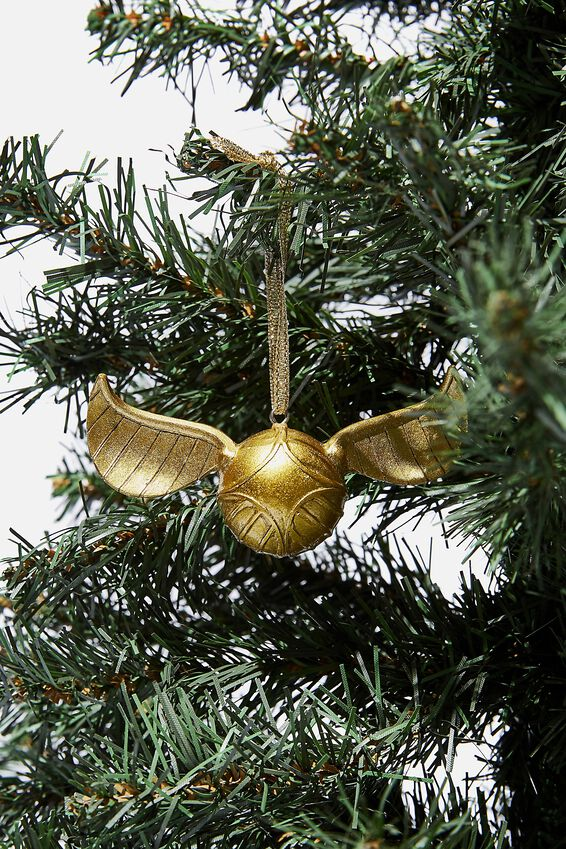 Harry Potter Christmas Ornament, LCN WB HP GOLD SNITCH