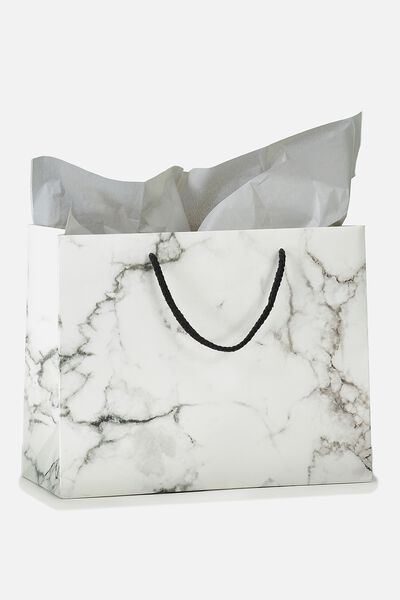 Stuff It Gift Bag Medium With Tissue Paper, MARBLE