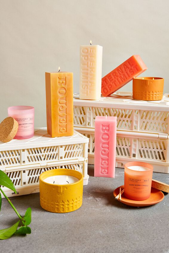 Pillar Block Candle, ETERNAL OPTIMIST PEACH