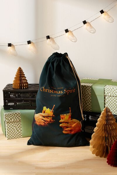 Santa Sack, CHRISTMAS SPIRIT GREEN!