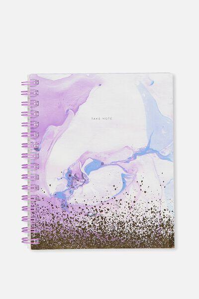 Medium Campus Notebook - 240 Pages, PURPLE MARBLE SPLATTER