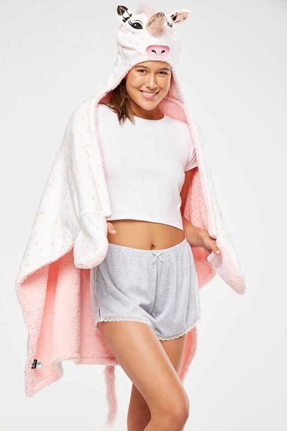 Novelty Hooded Unicorn Blanket, MAJESTIC UNICORN