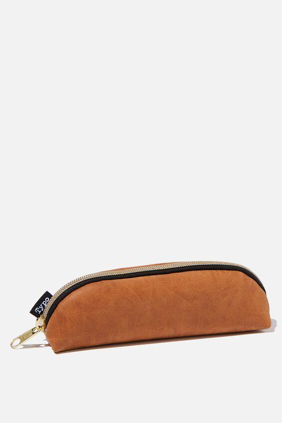 Mini Bailey Pencil Case, MID TAN