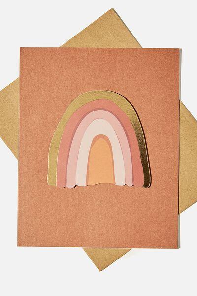 Embellishment Card, RAINBOW RUST