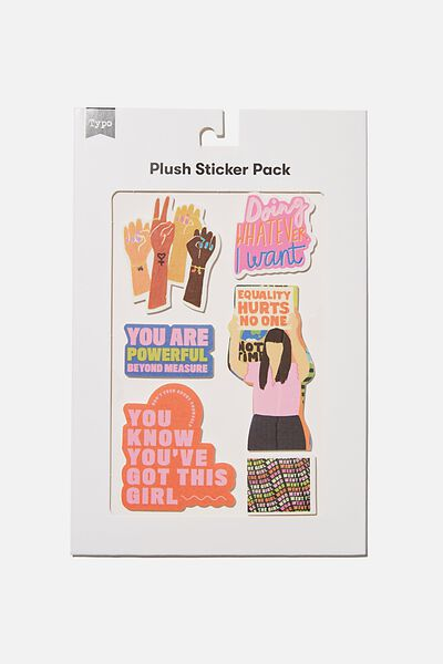 Plush Sticker Pack, YOU VE GOT THIS GIRL