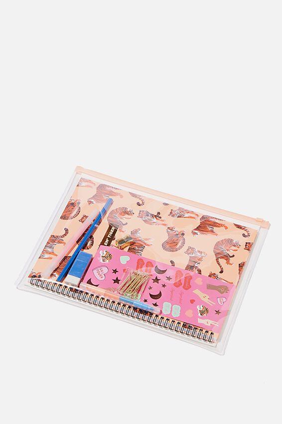 A4 Stationery Kit, LEOPARD