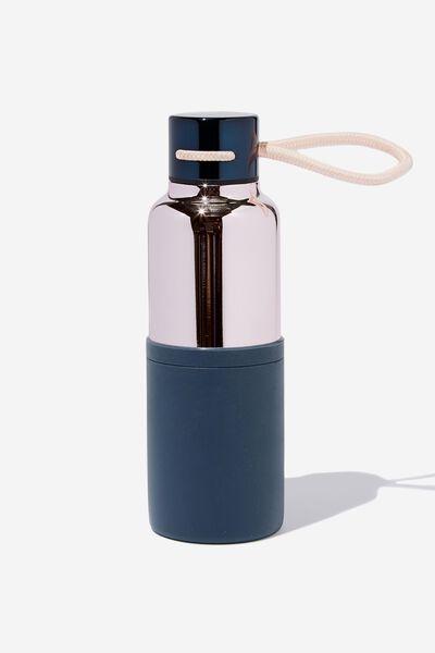 The Loop Metal Drink Bottle, BLUSH & NAVY