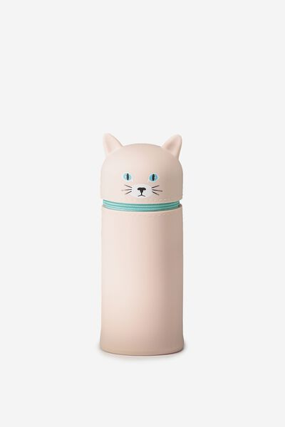 Standing Pencil Case, PINK KITTY
