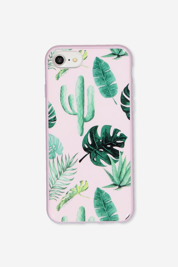 Printed Phone Cover Universal 6,7,8, PINK PALM