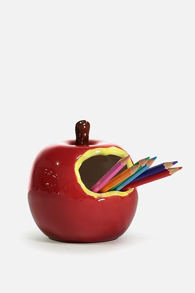 Pen Holder, RED APPLE