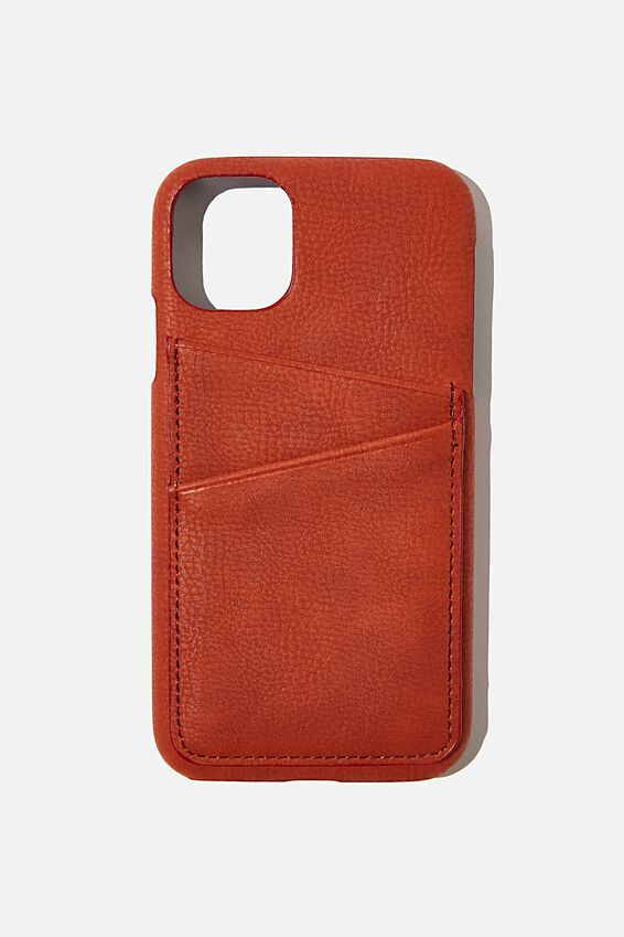 Cardholder Phone Cover Iphone 11, RUST