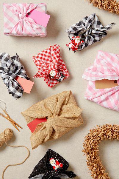 Fabric Wrapping Pack Medium 2Pk, HESSIAN