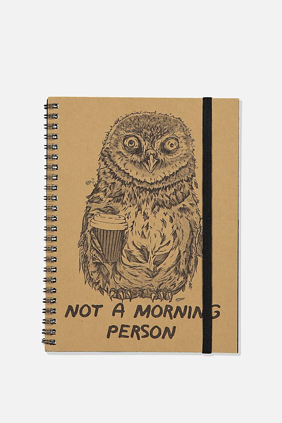 A5 Spinout Notebook Recycled, TBAR NOT A MORNING PERSON
