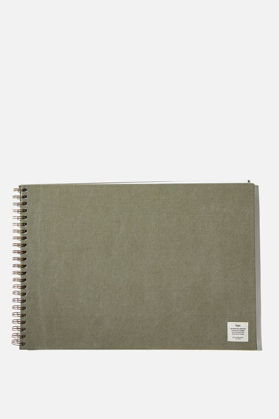 A3 Spiral Sketch Book, KHAKI