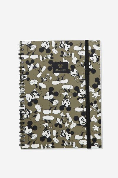 A5 Spinout Notebook Recycled, LCN DIS VINTAGE MICKEY MOUSE