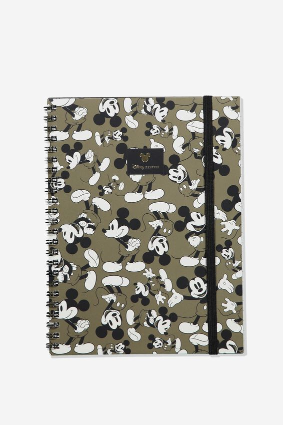 A5 Disney Spinout Notebook Recycled, LCN DIS VINTAGE MICKEY MOUSE